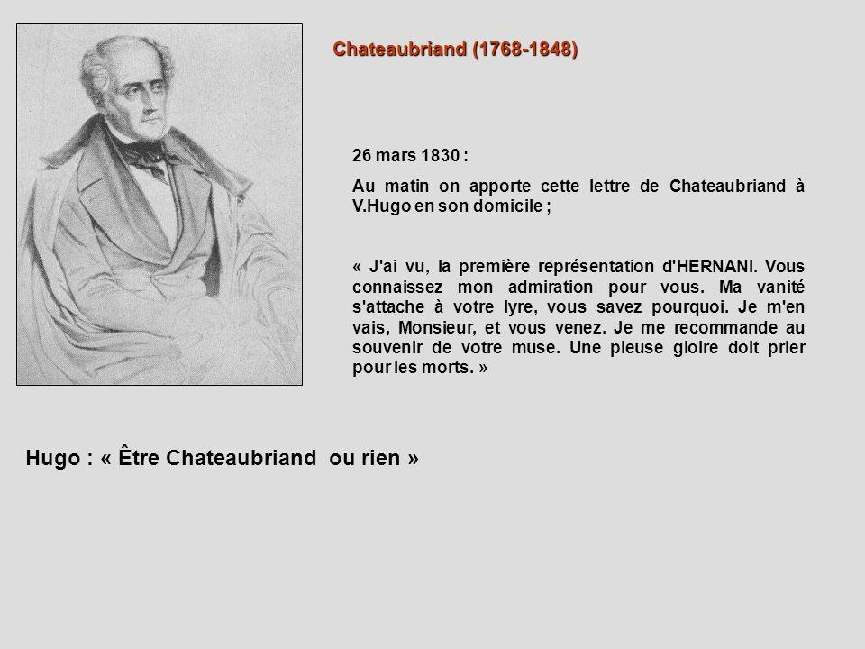Hugo : « Être Chateaubriand ou rien »