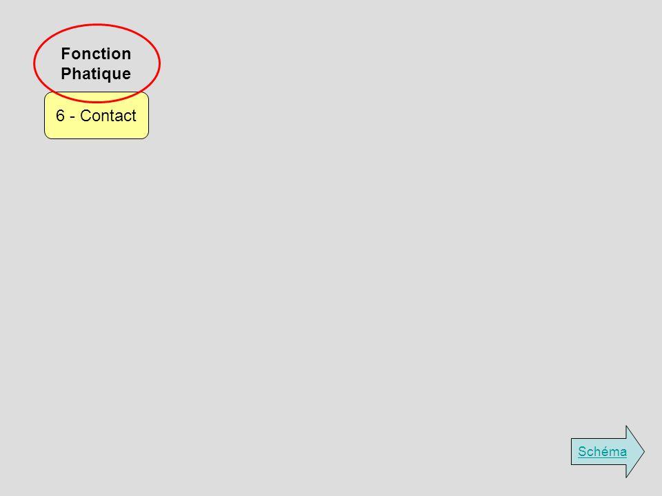 Fonction Phatique 6 - Contact Schéma