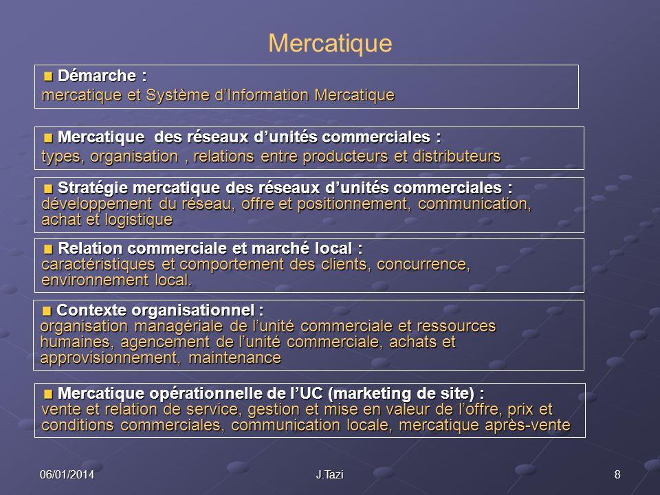 Mercatique Démarche : mercatique et Système d'Information Mercatique