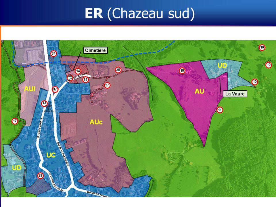 ER (Chazeau sud) Cimetière La Vaure