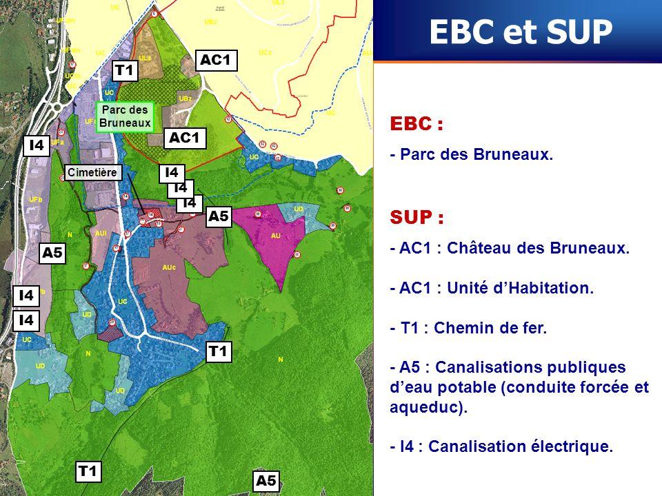EBC et SUP EBC : SUP : - Parc des Bruneaux.