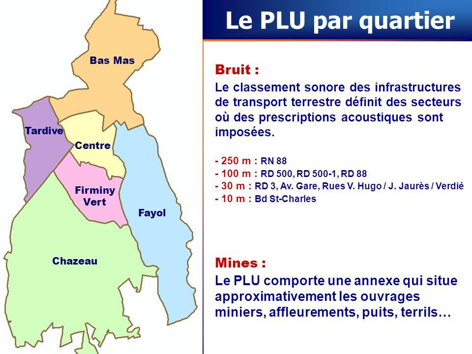 Le PLU par quartier Bruit : Mines :