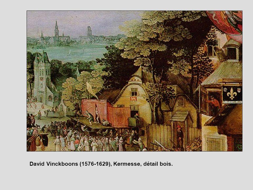 David Vinckboons (1576-1629), Kermesse, détail bois.