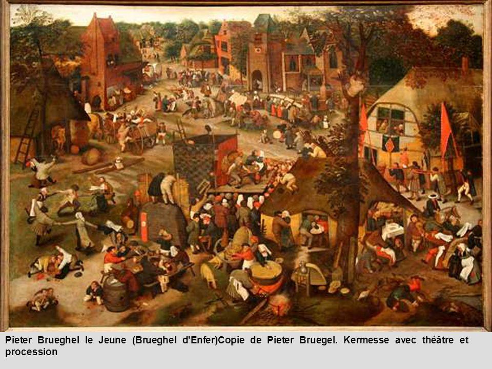 Fils aîné de Pieter I Bruegel (le plus grand et le plus connu des Bruegel), tôt fixé à Anvers, Bruegel d Enfer se forme chez un certain Gillis van Coninxloo qui ne serait pas, selon Marlier, le paysagiste, mais un peintre homonyme étroitement apparenté à la famille de Pieter Coecke dont Pieter II était le petit-fils. Dès 1585, il est reçu maître ; dès 1588, il a des élèves et il en aura en grand nombre (dont son fils, Pieter III, et Frans Snyders) jusqu en 1615 au moins, mais son atelier resta productif jusqu à la fin puisqu on connaît des tableaux de Pieter II datés de 1635 et de 1636 (les premiers étant de 1595 et de 1596). Il semble avoir été moins riche que son frère Jan, dit de Velours, dont les œuvres sont toujours estimées à un plus haut prix dans les documents anciens. Ce qu on s explique mal, c est que les Enfers bruegéliens conservés soient toujours de Jan Bruegel de Velours (beaux exemples à l Ambrosienne de Milan), alors que le sobriquet de Bruegel d Enfer, contrairement à ce que croyait Hulin de Loo, est attesté du vivant même de Pieter II (par exemple dans un inventaire de tableaux en 1614) et s applique bien à lui : force est de respecter une vieille tradition consacrée d ailleurs par l usage.
