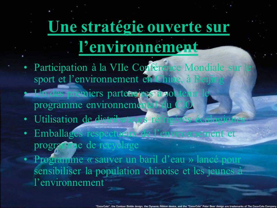 Une stratégie ouverte sur l'environnement