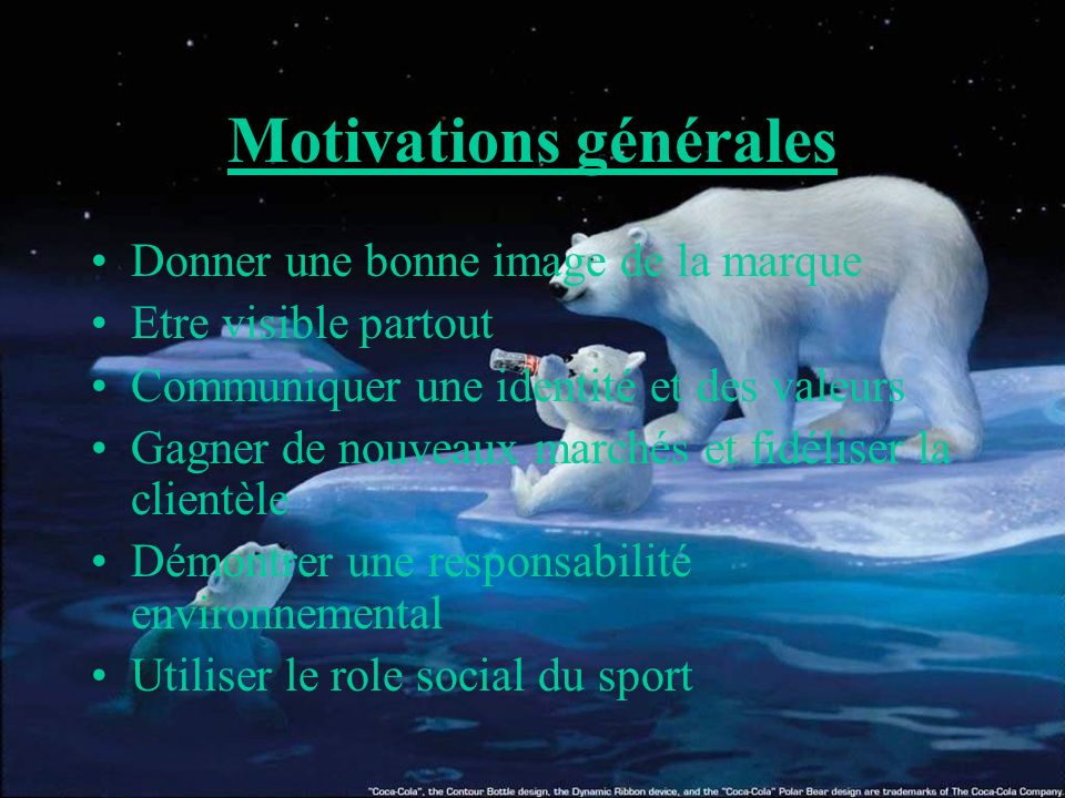 Motivations générales