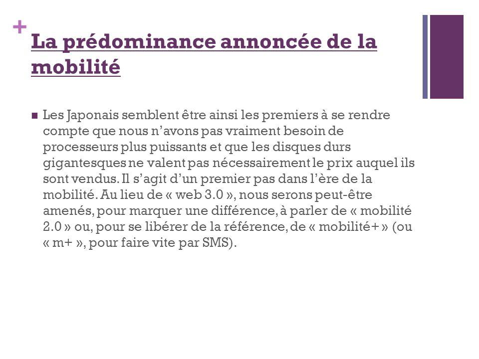 La prédominance annoncée de la mobilité