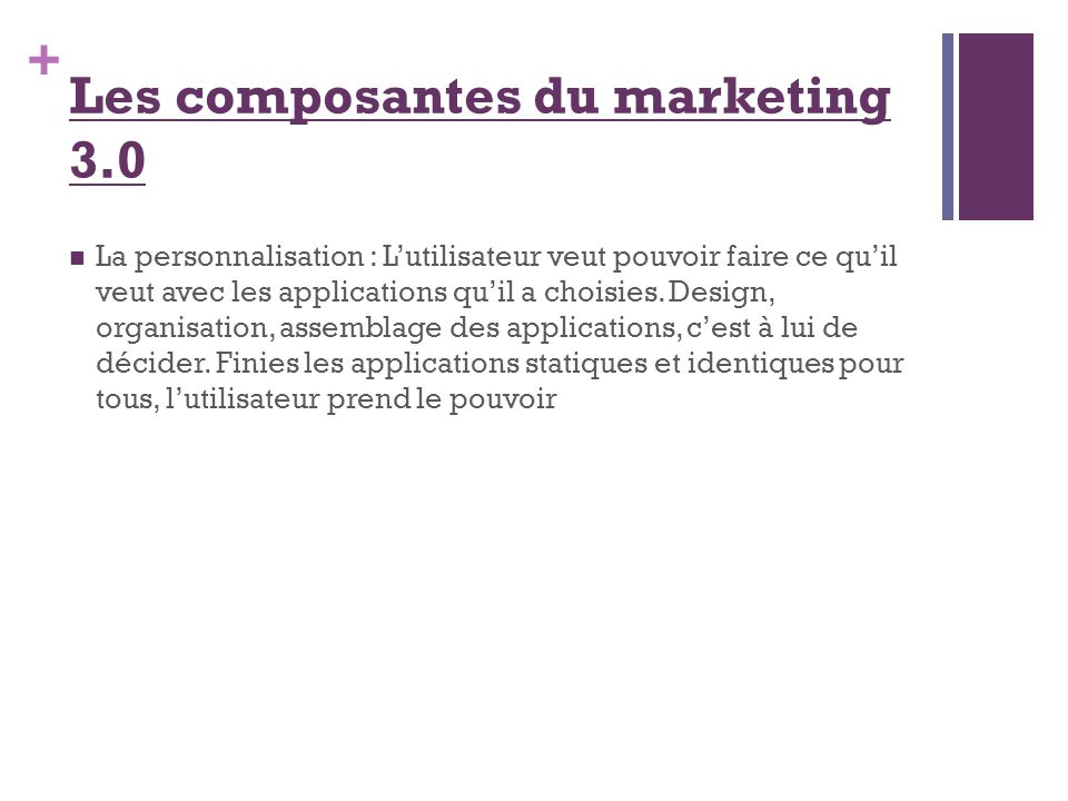 Les composantes du marketing 3.0