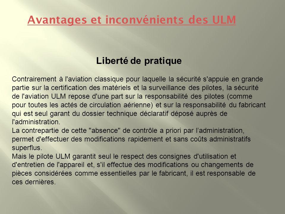 Avantages et inconvénients des ULM