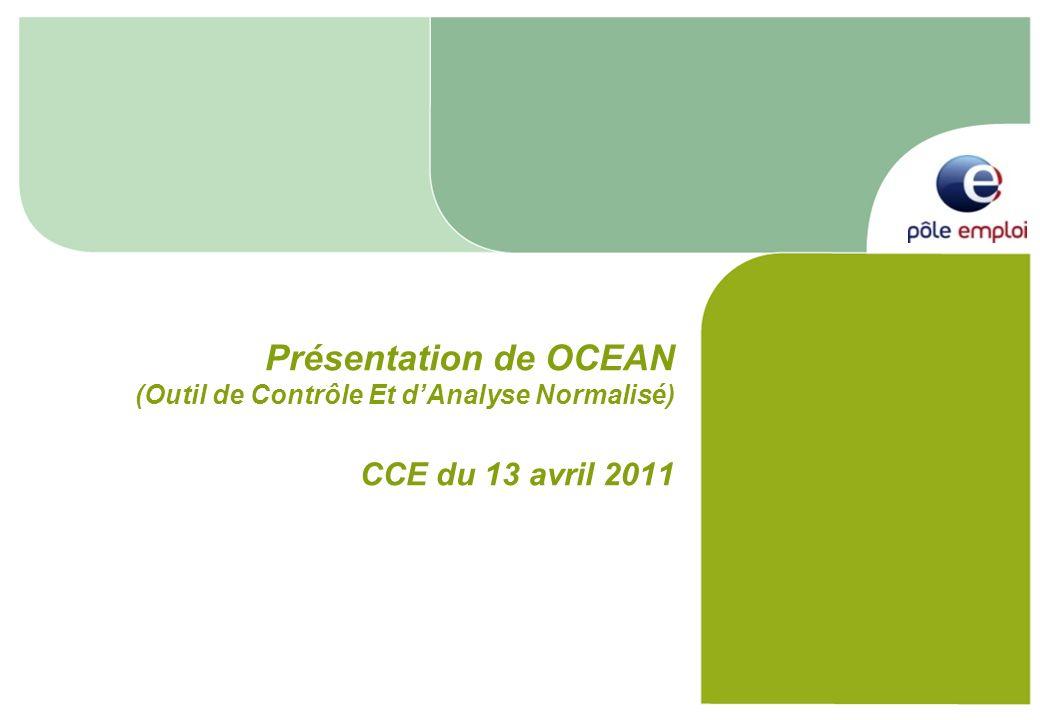 Présentation de OCEAN (Outil de Contrôle Et d'Analyse Normalisé) CCE du 13 avril 2011