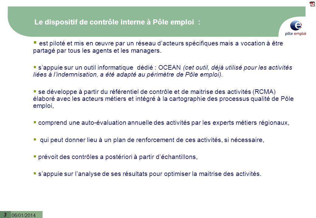 Le dispositif de contrôle interne à Pôle emploi :