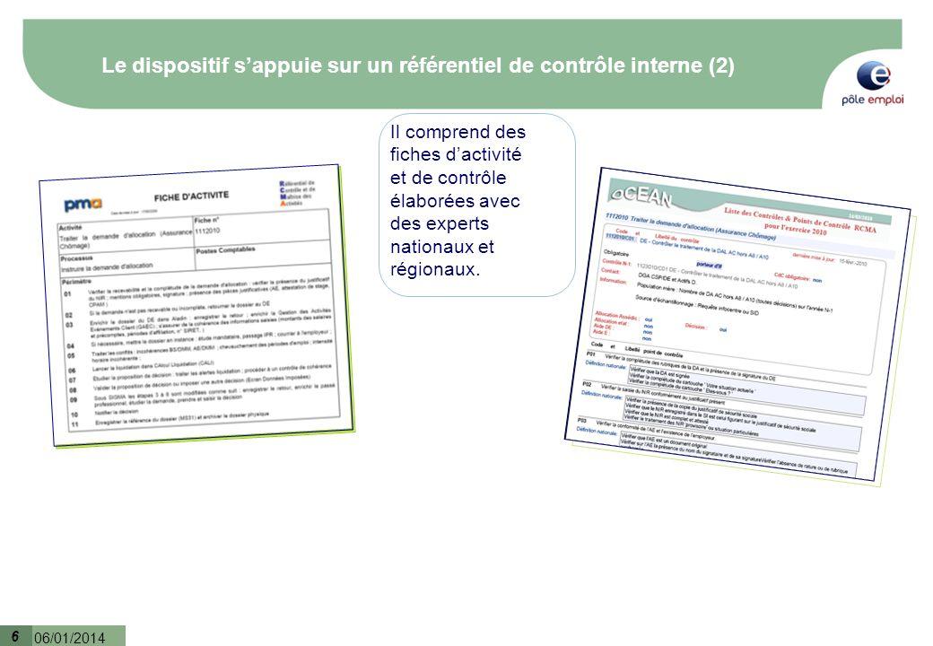 Le dispositif s'appuie sur un référentiel de contrôle interne (2)