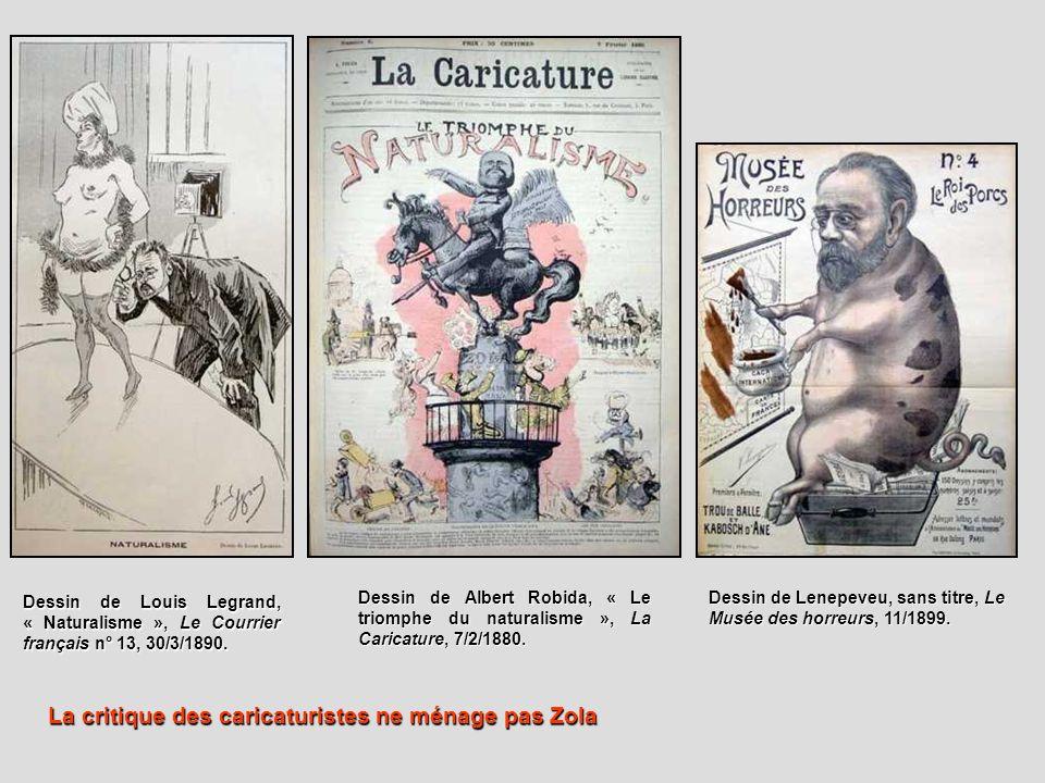 La critique des caricaturistes ne ménage pas Zola