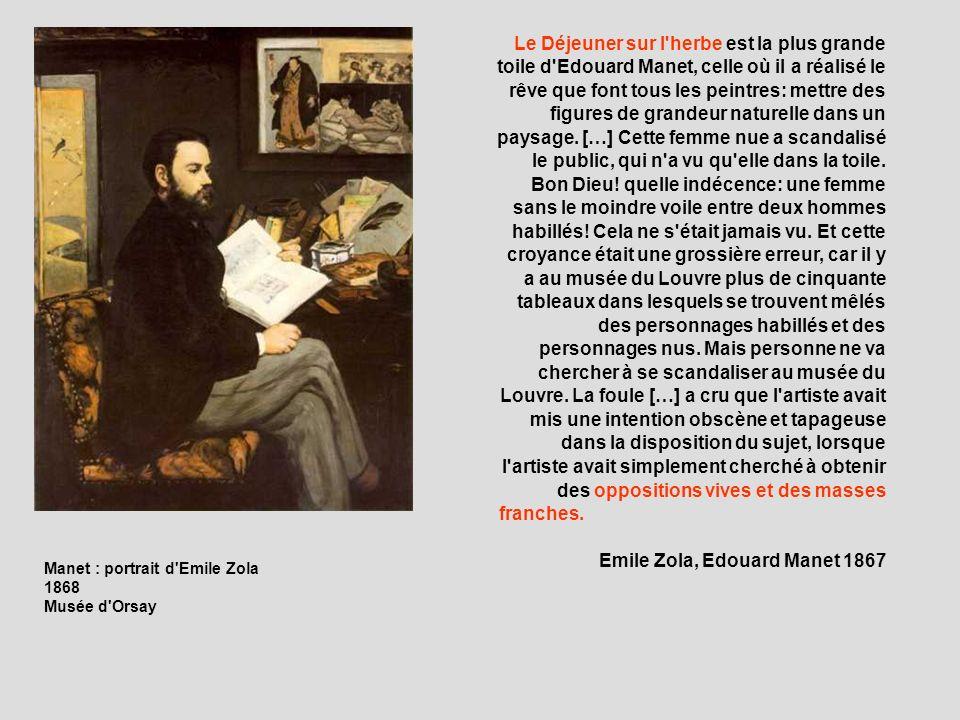 Emile Zola, Edouard Manet 1867