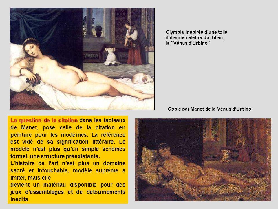Olympia inspirée d une toile italienne célèbre du Titien,