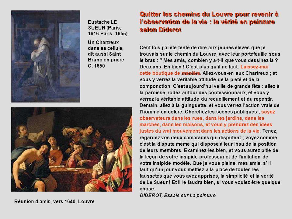 Quitter les chemins du Louvre pour revenir à l'observation de la vie : la vérité en peinture selon Diderot