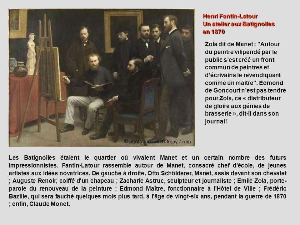 Un atelier aux Batignolles en 1870