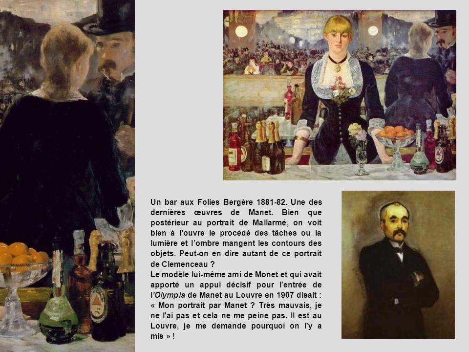 Un bar aux Folies Bergère 1881-82. Une des dernières œuvres de Manet