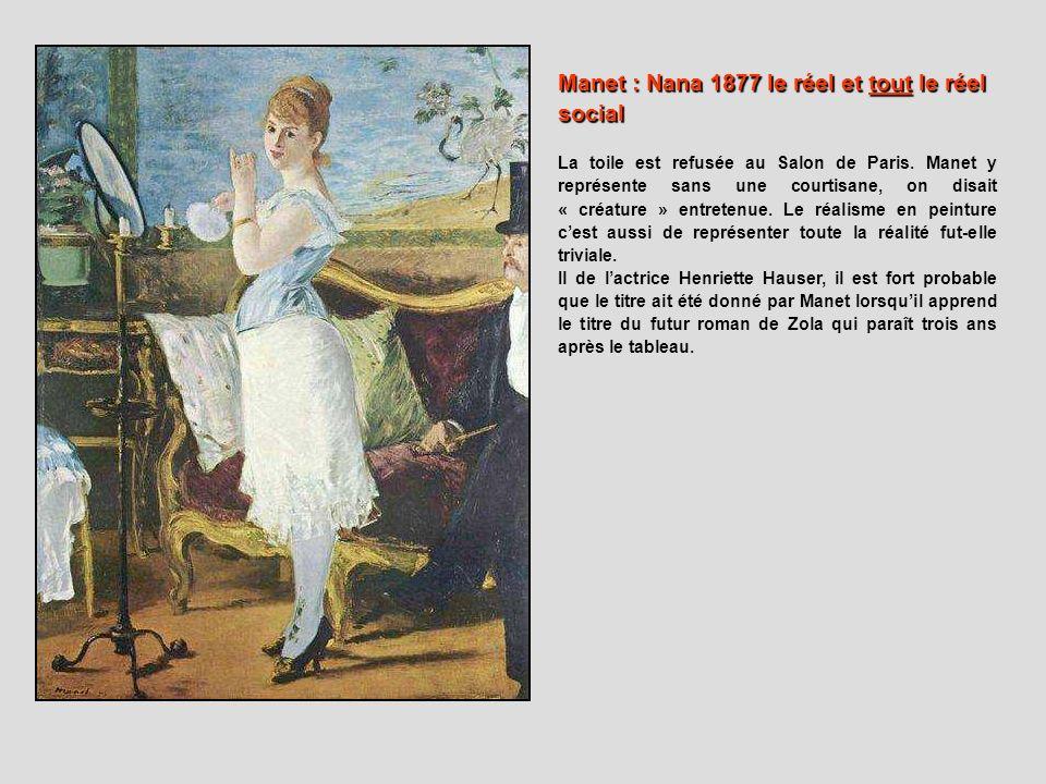 Manet : Nana 1877 le réel et tout le réel social