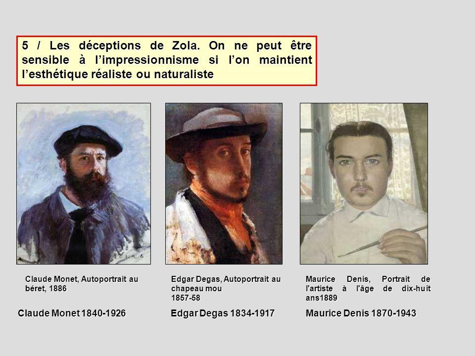 5 / Les déceptions de Zola