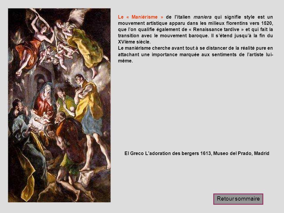 El Greco L adoration des bergers 1613, Museo del Prado, Madrid