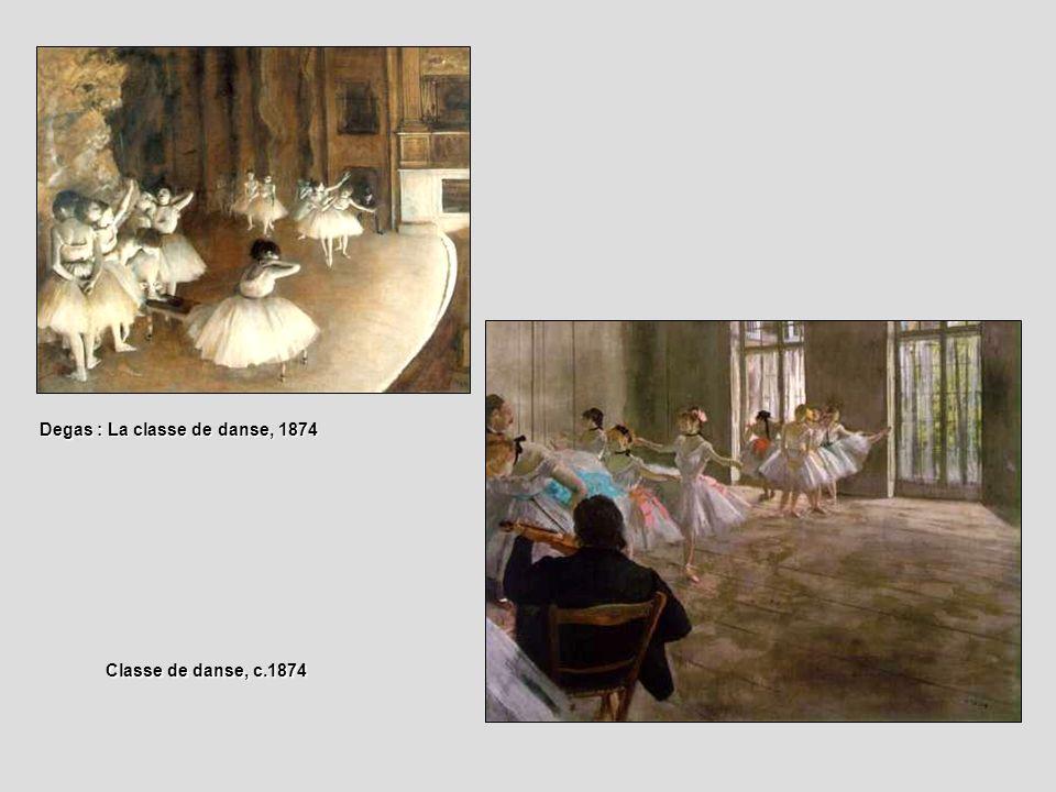 Degas : La classe de danse, 1874