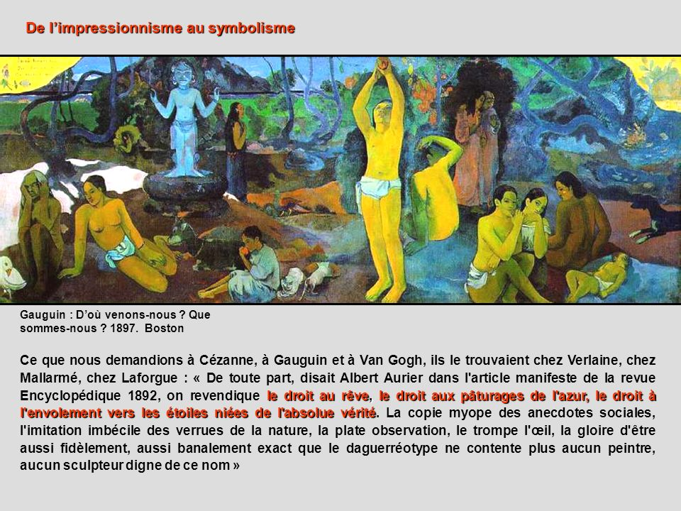 De l'impressionnisme au symbolisme