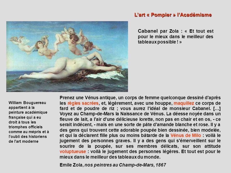 L'art « Pompier » l'Académisme