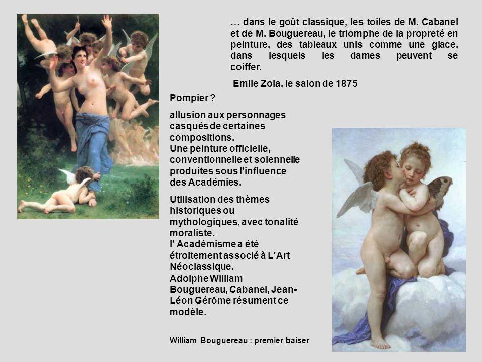 … dans le goût classique, les toiles de M. Cabanel et de M