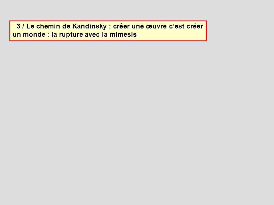 3 / Le chemin de Kandinsky : créer une œuvre c'est créer un monde : la rupture avec la mimesis