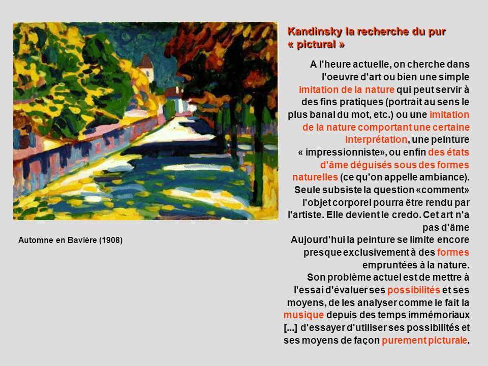 Kandinsky la recherche du pur « pictural »
