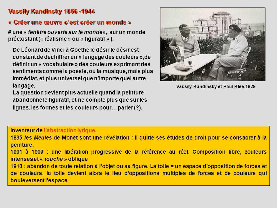 Vassily Kandinsky et Paul Klee,1929