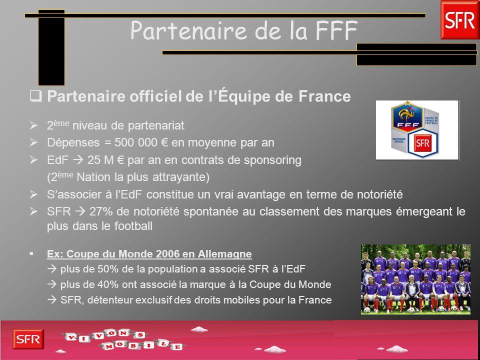 Partenaire de la FFF Partenaire officiel de l'Équipe de France