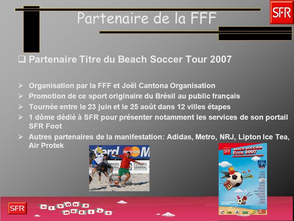 Partenaire de la FFF Partenaire Titre du Beach Soccer Tour 2007