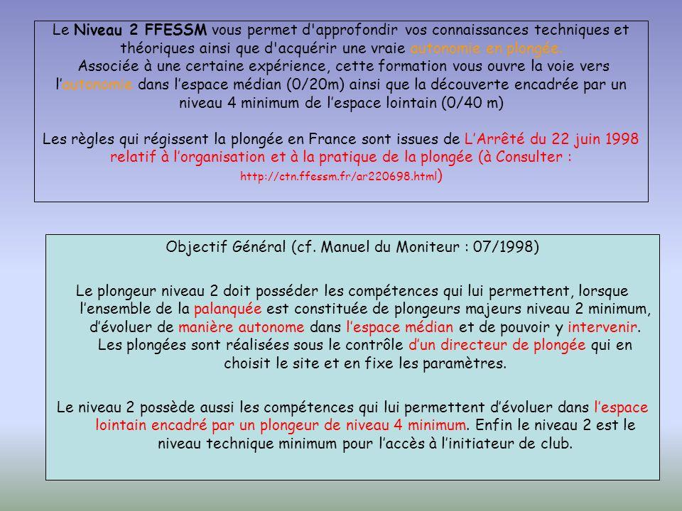 Objectif Général (cf. Manuel du Moniteur : 07/1998)