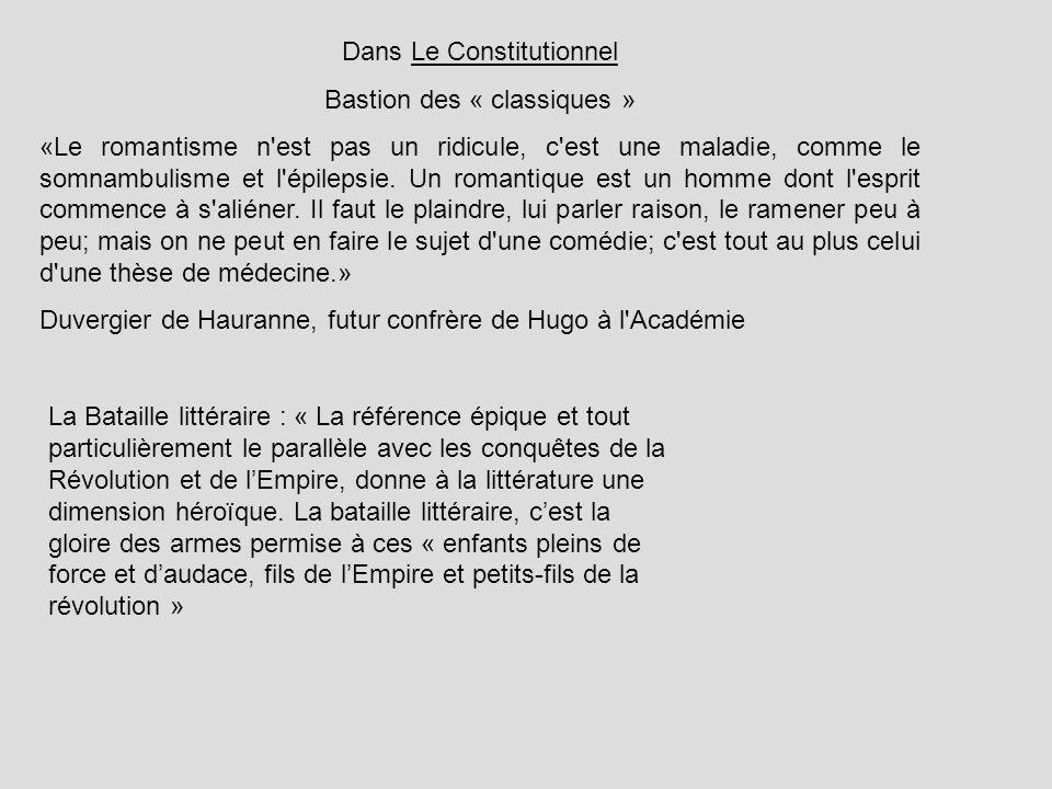 Dans Le Constitutionnel Bastion des « classiques »