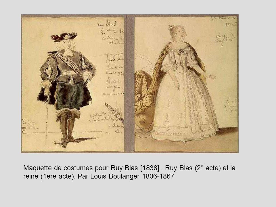 Louis Boulanger Louis (1806-1867):Maquette de costumes pour Ruy Blas