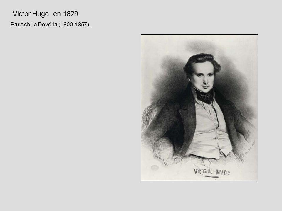Victor Hugo en 1829 Par Achille Devéria (1800-1857).