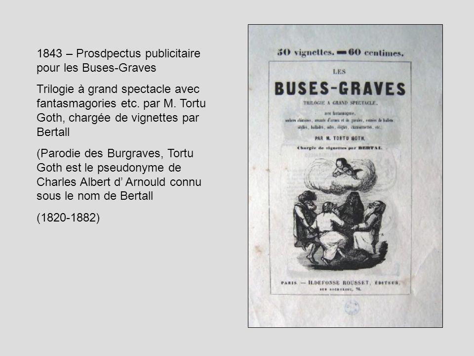 1843 – Prosdpectus publicitaire pour les Buses-Graves