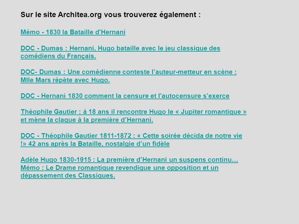 Sur le site Architea.org vous trouverez également :