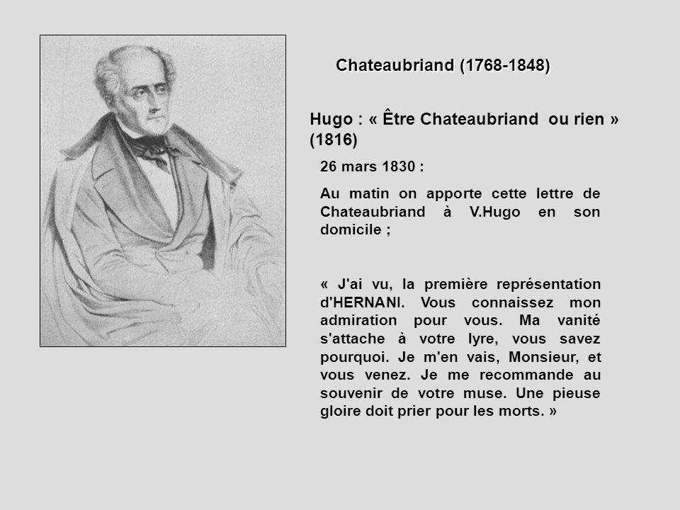 Hugo : « Être Chateaubriand ou rien » (1816)