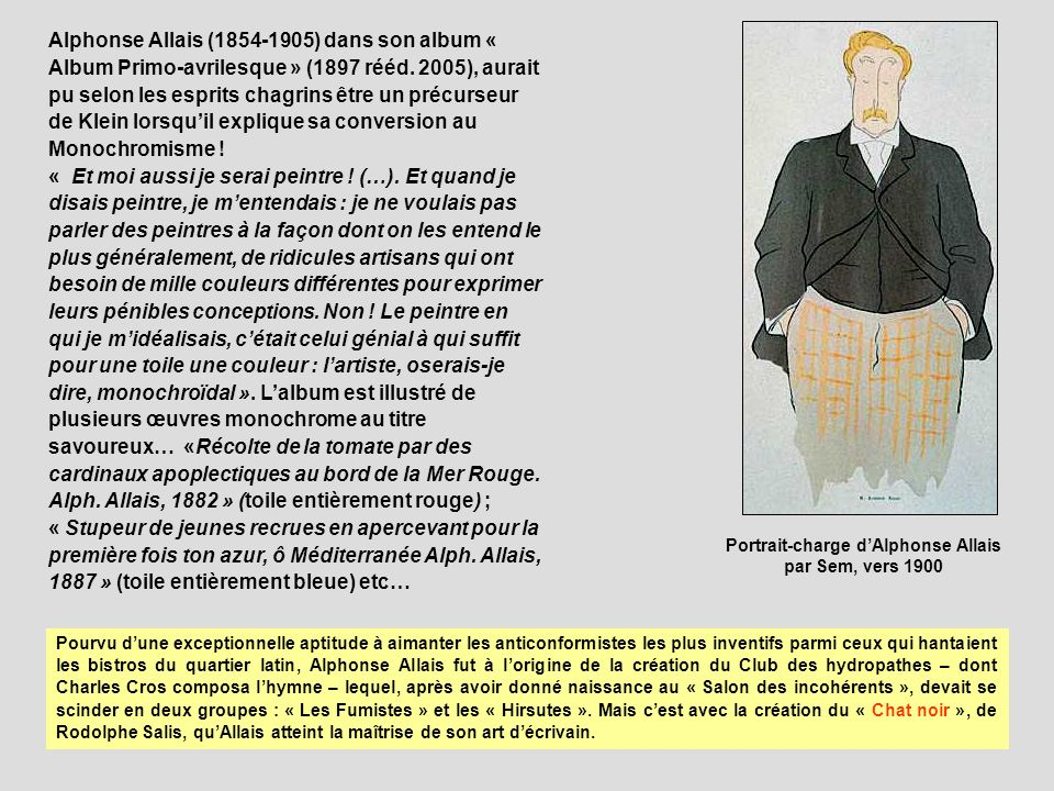 Portrait-charge d'Alphonse Allais