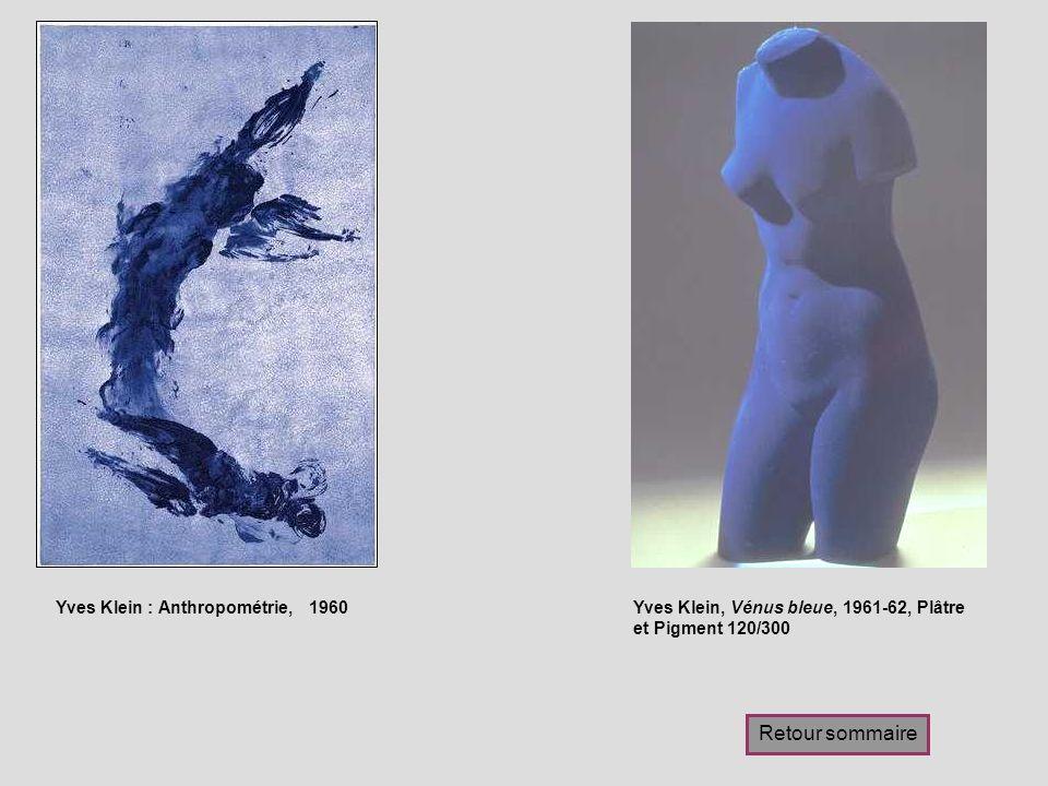 Retour sommaire Yves Klein : Anthropométrie, 1960
