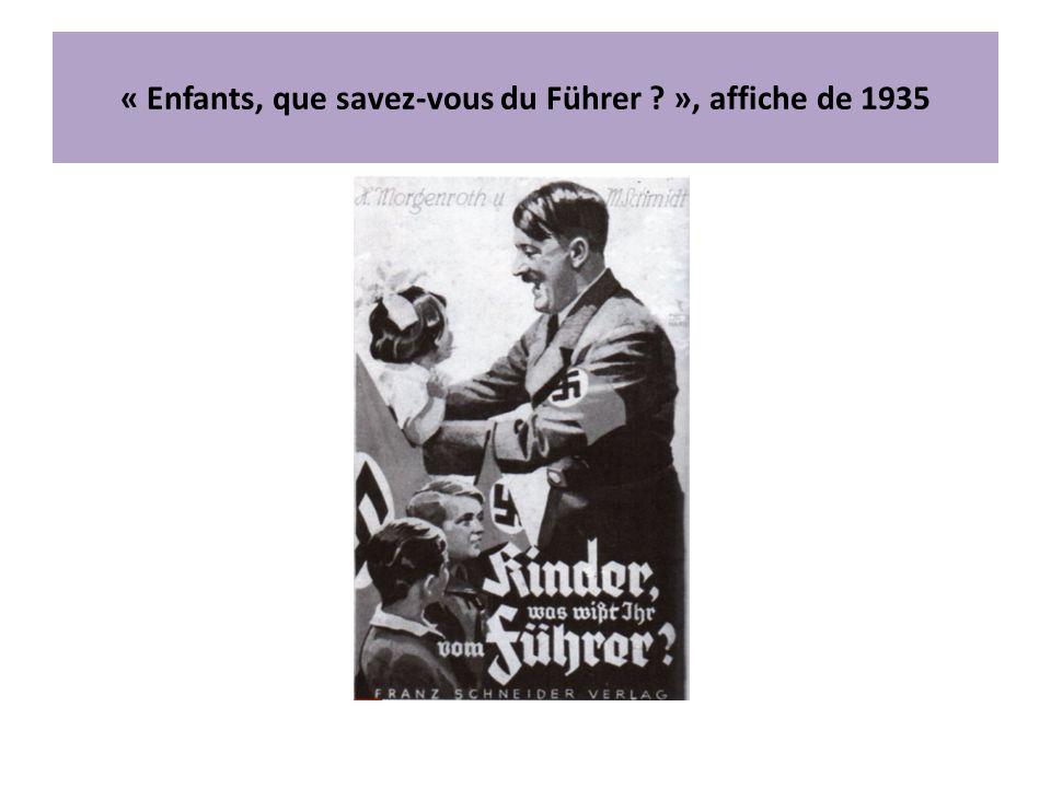 « Enfants, que savez-vous du Führer », affiche de 1935