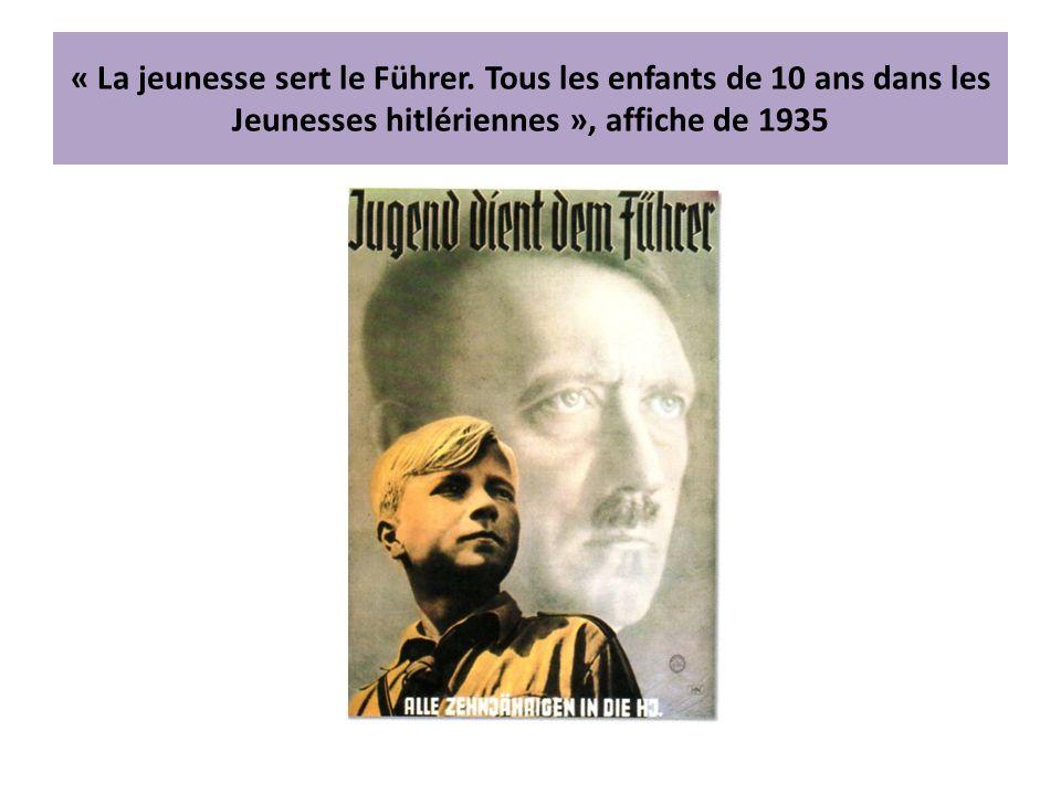 « La jeunesse sert le Führer