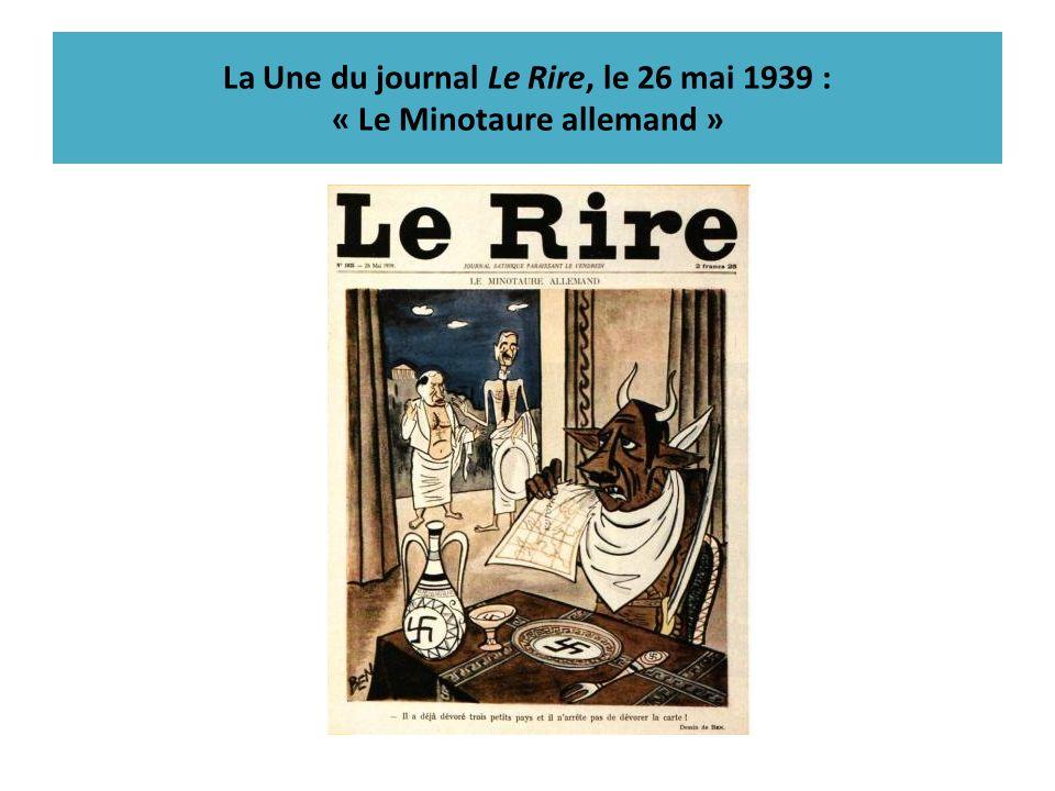 La Une du journal Le Rire, le 26 mai 1939 : « Le Minotaure allemand »