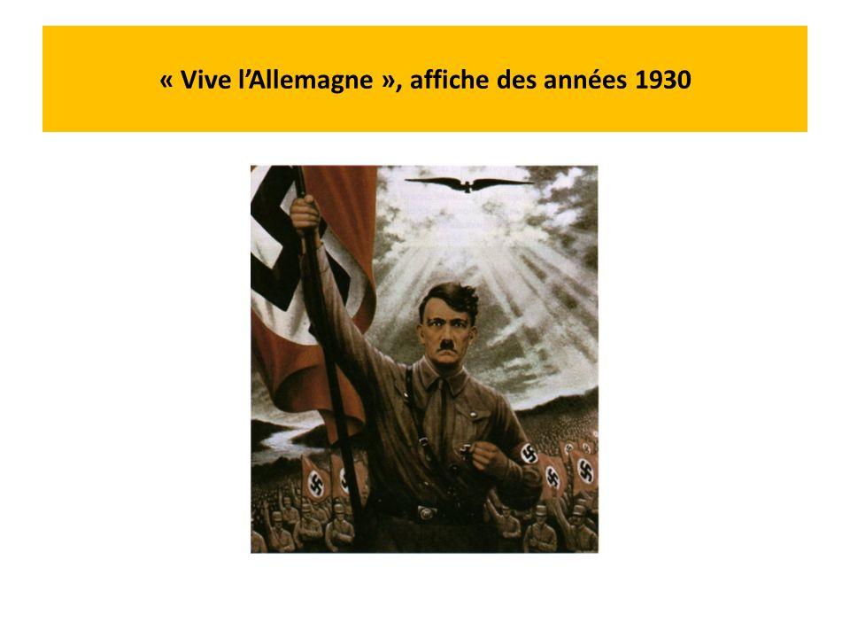 « Vive l'Allemagne », affiche des années 1930