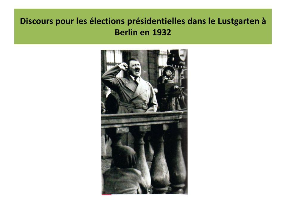 Discours pour les élections présidentielles dans le Lustgarten à Berlin en 1932