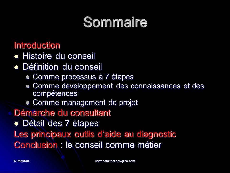 Sommaire Introduction Histoire du conseil Définition du conseil