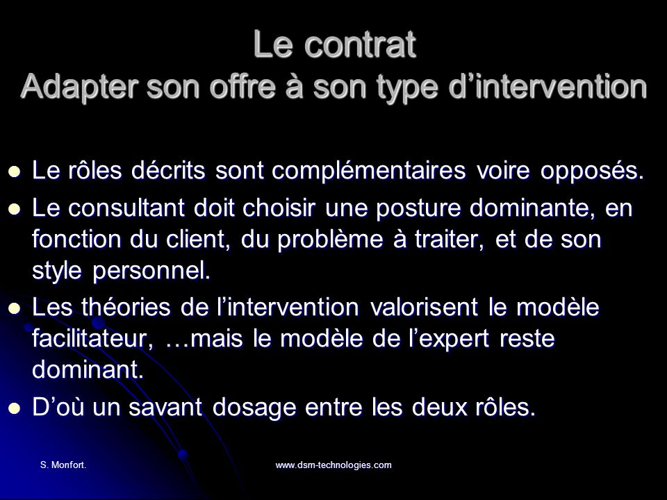 Le contrat Adapter son offre à son type d'intervention
